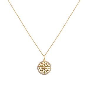 Samara Diamond & Yellow Gold Pendant with Chain