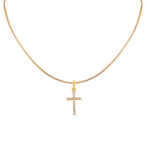 Cross Diamond Pendant with Chain