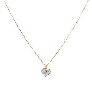 Yasmin Diamond & Yellow Gold Pendant with Chain