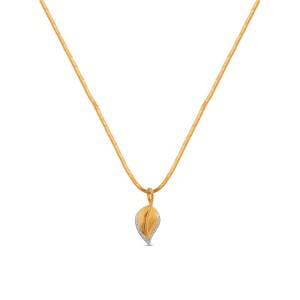 Yashvi Yellow Gold Diamond Pendant with Chain