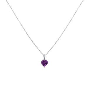 Rahel Diamond & Amethyst Pendant with Chain