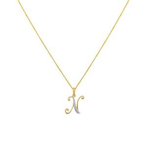 Helga Monogram Diamond Pendant with Chain