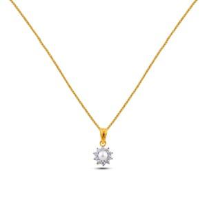 Selene Diamond Pendant with Chain