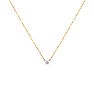 Rhea Solitaire Pendant with Chain