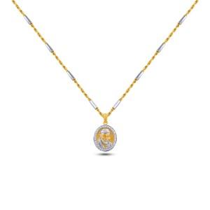 Shiridi Sai Baba Diamond Pendant with Chain