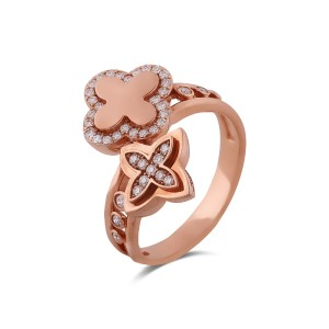 Merlin Diamond & Rose Gold Ring