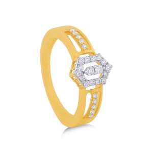 Angeline Yellow Gold Diamond Ring