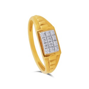 Byron Yellow Gold Diamond Ring