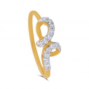 April Yellow Gold Diamond Ring