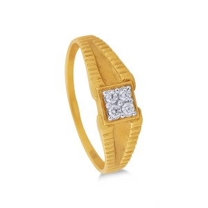 Ben Men's Yellow Gold Diamond Ring