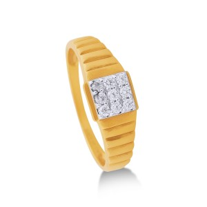 Dominic Yellow Gold Diamond Ring
