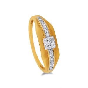 Aiden Men's Yellow Gold Diamond Ring