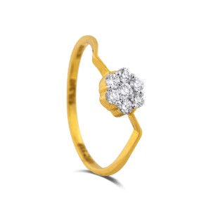 Aviana Yellow Gold Diamond Ring