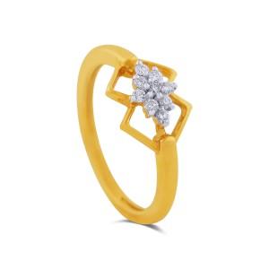 Varya Yellow Gold Diamond Ring