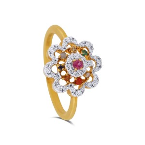 Phoebe Yellow Gold Diamond Ring