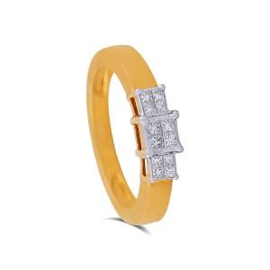 Themis Yellow Gold Diamond Ring