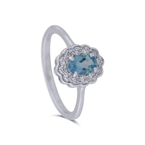 Sappho White Gold Diamond Ring