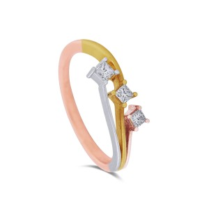 Dani Three-Tone Diamond Ring