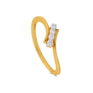 Orilla Yellow Gold Diamond Ring