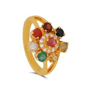 Rheta Yellow Gold Diamond Ring