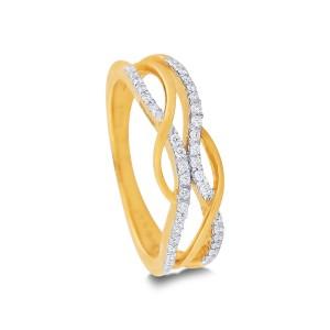 Ofelia Yellow Gold Diamond Ring
