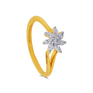 Dalia Yellow Gold Diamond Ring