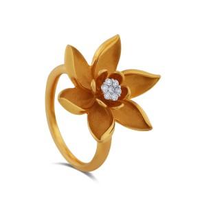 Leilani Yellow Gold Diamond Ring