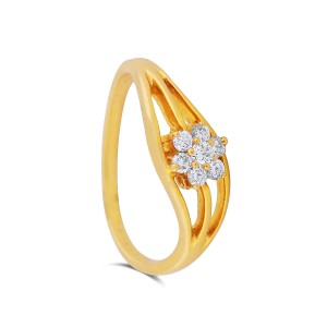 Alaleh Yellow Gold Diamond Ring