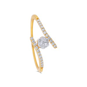 Olva Yellow Gold Diamond Ring