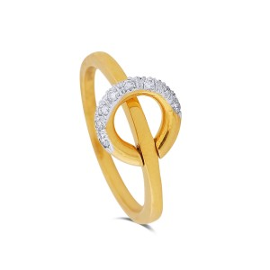 Bonita Yellow Gold Diamond Ring