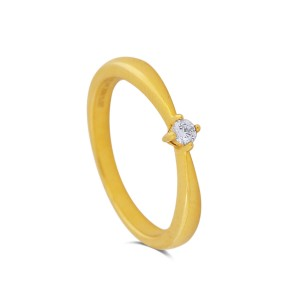 Ayah Yellow Gold Diamond Ring
