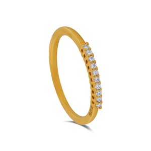 Odessa Yellow Gold Diamond Ring