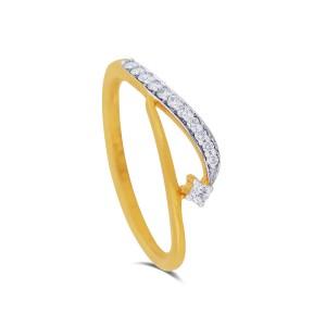 Olivera Yellow Gold Diamond Ring