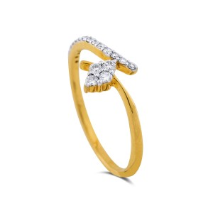 Ohana Yellow Gold Diamond Ring
