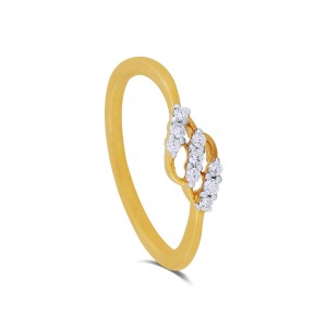 Adelpha Yellow Gold Diamond Ring