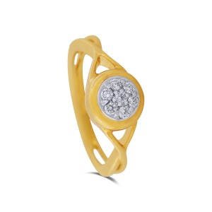 Lena Yellow Gold Diamond Ring