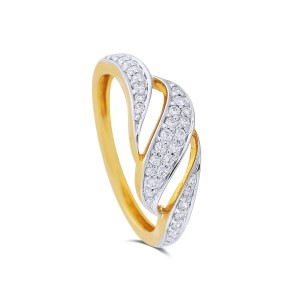 Pariza Yellow Gold Diamond Ring