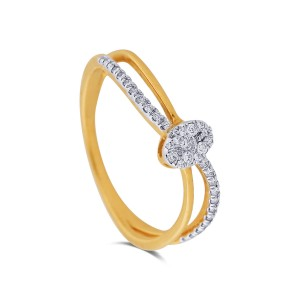 Parthenia Yellow Gold Diamond Ring