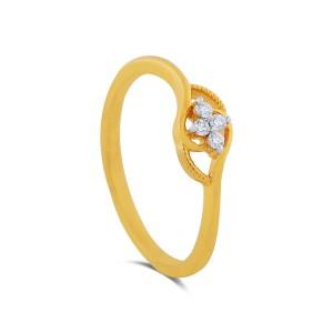 Livia Yellow Gold Diamond Ring