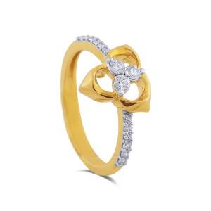 Jayla Yellow Gold Diamond Ring