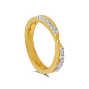 Janice Yellow Gold Diamond Ring