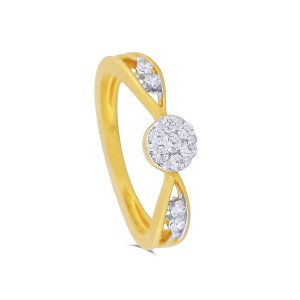 Brenna Yellow Gold Diamond Ring