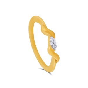 Britney Yellow Gold Diamond Ring
