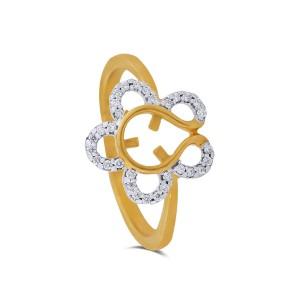 Beatrix Yellow Gold Diamond Ring