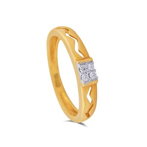 Xena Yellow Gold Diamond Ring
