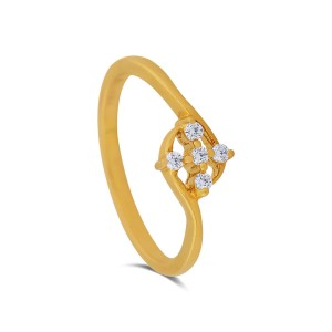 Yannia Yellow Gold Diamond Ring