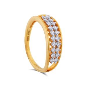 Christina Yellow Gold Diamond Ring