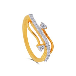 Neri Yellow Gold Diamond Ring