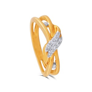 Chaya Yellow Gold Diamond Ring