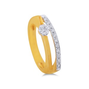 Daphne Yellow Gold Diamond Ring
